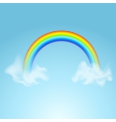 Rainbows in different shape realistic colorful set vector image