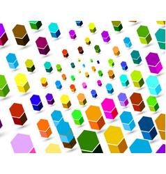 3d abstract colorful background vector image