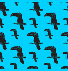a seamless pattern of toucan birds vector image