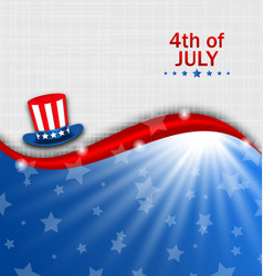 abstract american poster for independence day usa vector image
