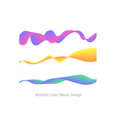 abstract colorful wave element for design vector image