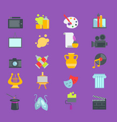 artistic creator graphic designer icons set vector image
