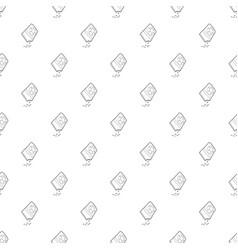 bag of flower seeds pattern seamless vector image