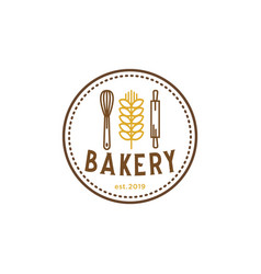 bakery vintage logo inspiration vector image