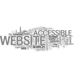 benefits of an accessible website part the vector image