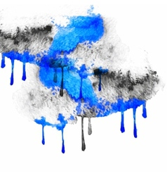 black and blue spots watercolors vector image