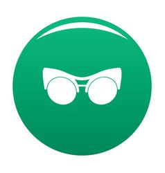 black eyeglasses icon green vector image