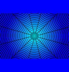 Black spider web on blue background vector