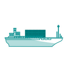 Boat transport commodity shadow vector