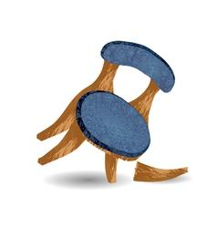 Broken chair leg vector
