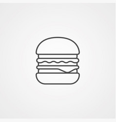 burger icon sign symbol vector image