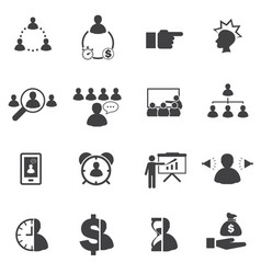 Business team building concept icons set vector