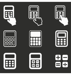 Calculator icon set vector image