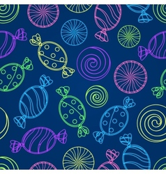 Candy Silholuette Seamless Pattern vector image