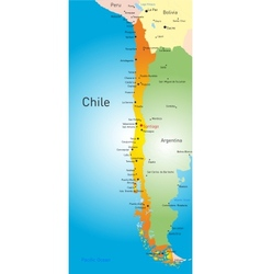 Chile country vector image