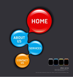 circles modern web design template vector image
