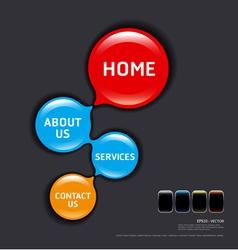 circles modern web design template vector image