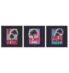 Collection three zine style graphic t vector