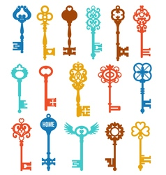 Colorful Keys Set vector image