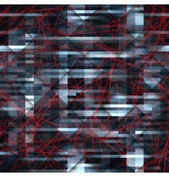 Dark abstract pattern with the red lines vector