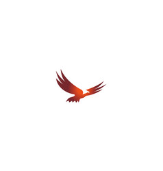 Eagle open wings flying logo design vector