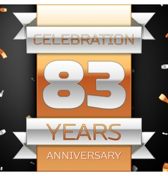 Eighty three years anniversary celebration golden vector