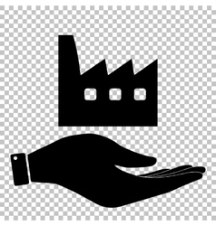 Factory sign Flat style icon vector image