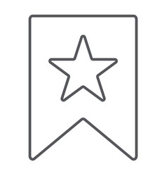favourites thin line icon mark and favorite vector image