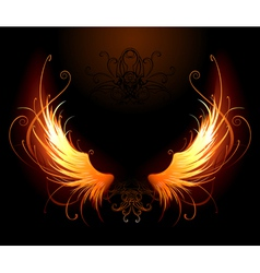 Fiery wings vector