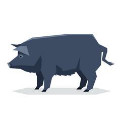 flat geometric guinea hog vector image