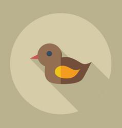 Flat modern design with shadow icons duck bath vector