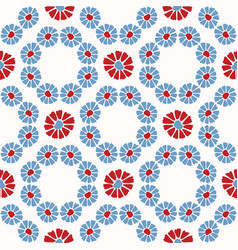 folk art daisy quilt all over print 1950 vector image
