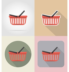 Food objects flat icons 11 vector