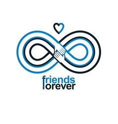 Friends forever everlasting friendship conceptual vector