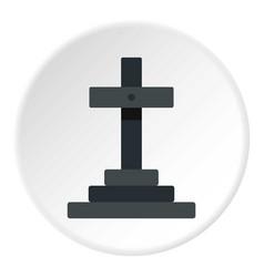 Grave icon circle vector