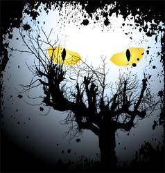 Halloween background with the scary eyes vector