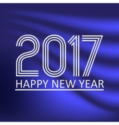 happy new year 2017 on dark blue abstract color vector image