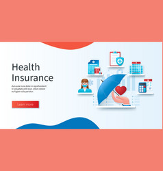 Health insurance concept doctor calculation vector