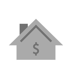 House with dollar sign vector