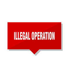 illegal operation red tag vector image