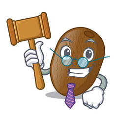 Judge kiwifruit is placed on mascot plate vector
