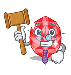Judge rugems in mascot shape vector