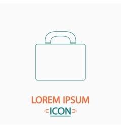 Luggage computer symbol vector