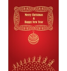 Merry christmas ball background doodle vector