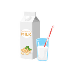 milk icon on white background vector image