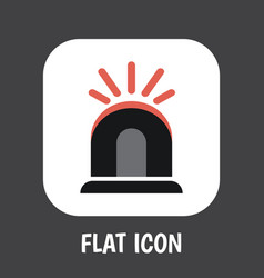 of safety symbol on siren flat vector image