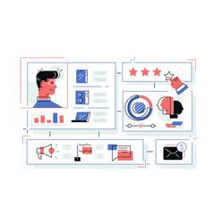 online store sales statistics infograhics vector image