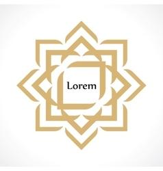 Oriental arabic pattern in form a flower vector