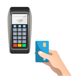 payment terminal with credit card vector image