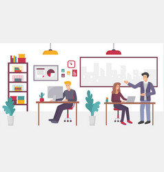 people in creative coworking office center in vector image